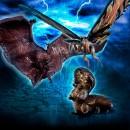 HG D+ EX01 Mothra & Rodan & Mothra Larva Set
