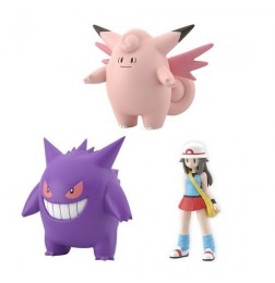 Pokemon Scale World Leaf & Clefable & Gengar Set