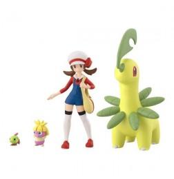 Pokemon Scale World Johto Region Lyra & Bayleef & Natu & Smoochum