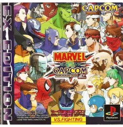 PS1 Marvel vs. Capcom : Clash of Super Heroes - EX Edition