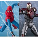 Spider Man Homecoming - S.H. Figuarts Spider Man Home Made Suit ver. & Iron Man Mark 47
