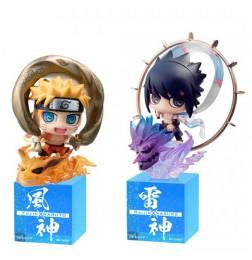 Naruto Shippuden - Petit Chara Land Fuujin Uzumaki Naruto & Raijin Uchiha Sasuke (set of 2)