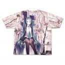 Hatsune Miku Cherry Blossoms Double-sided Full Graphic T-shirt